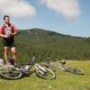 S kolesom na planino Klek