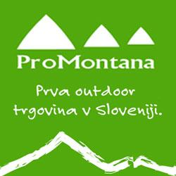 Plezalna oprema, planinska oprema v trgovini Promontana
